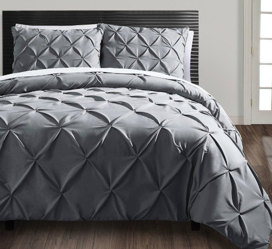 Amazing Get the Carmen piece Duvet Cover Set Grey Size Queen for shipped I have this same bedding set in white and I LOVE it