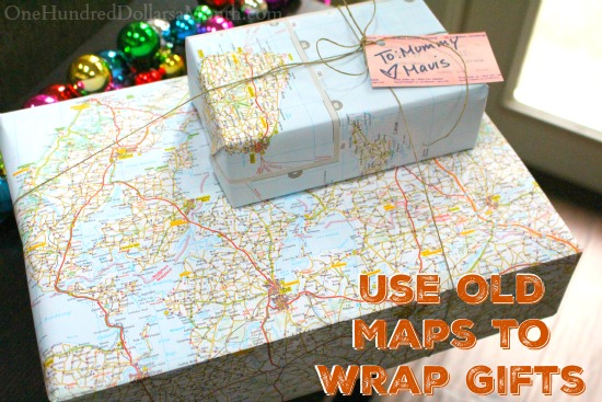 Use Old Maps to Wrap Gifts