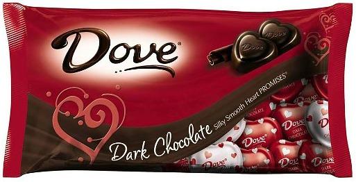 dove dark chocolate valentine candy