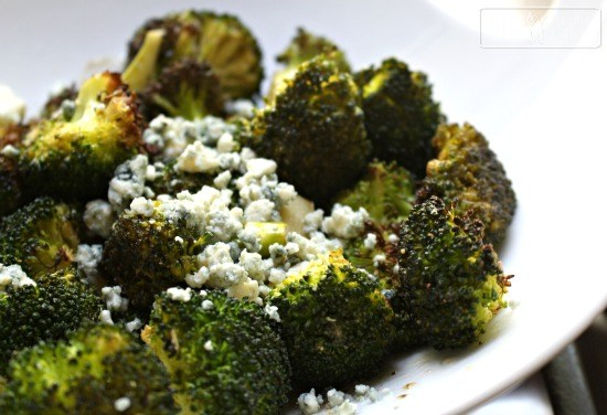 Roasted-Broccoli-with-Mustard-and-Blue-Cheese-Dressing
