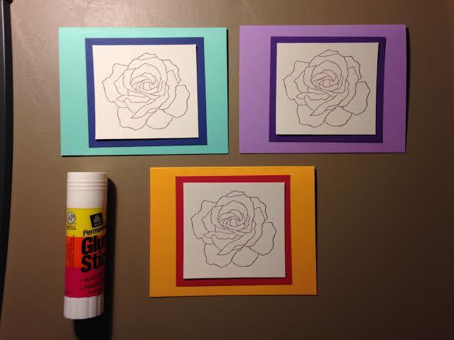 glue cards