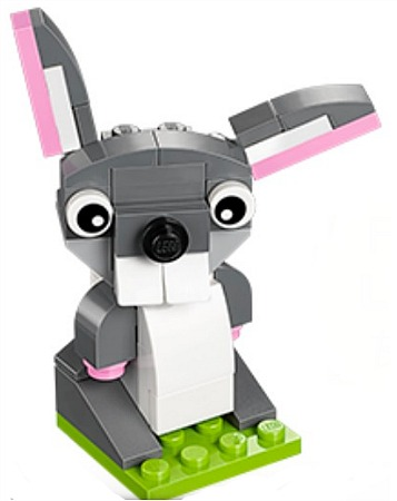 lego mini build bunny