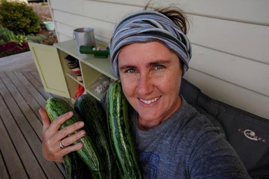 lisa with zucchini