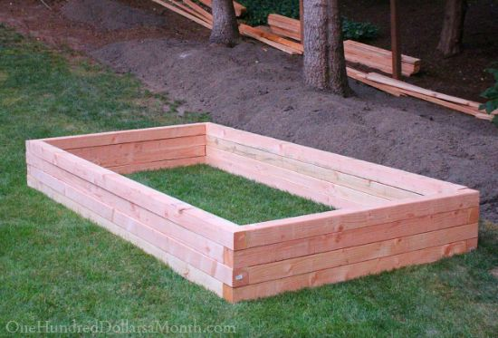 diy wood garden box