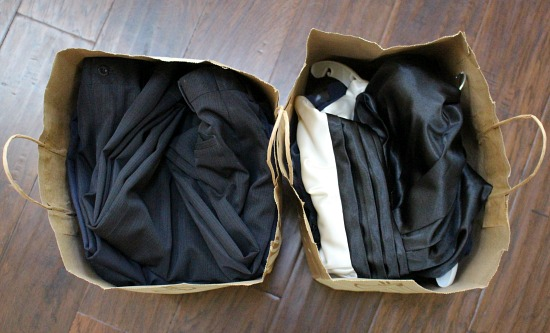 bags of clothing