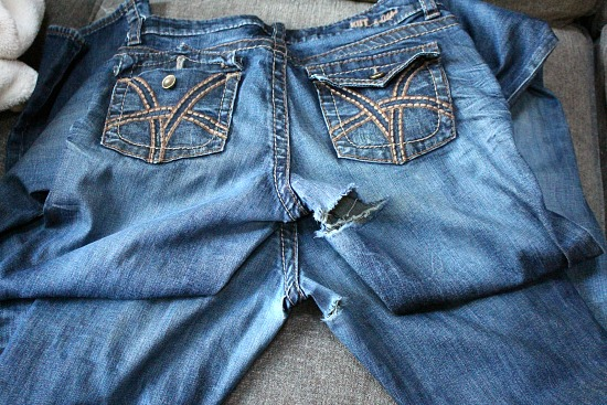 torn jeans