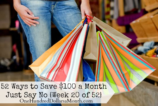 52 Ways to Save $100 a Month  Just Say No
