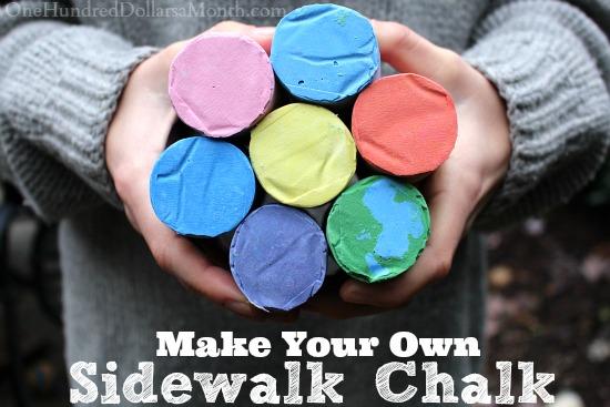 diy homemade sidewalk chalk