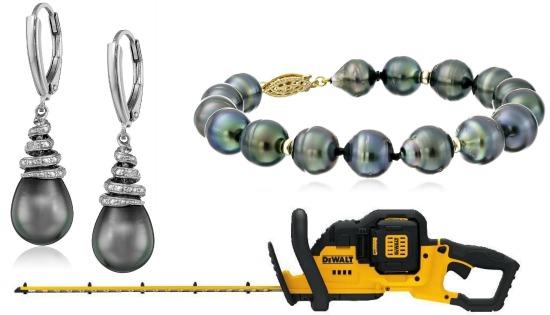 grey pearl earrings
