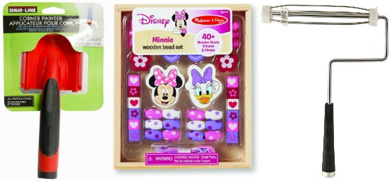 minnie mouse wooden beads