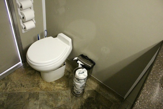 toilet in public bathroom