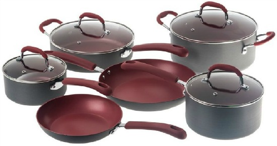 Bella 10 Piece Hard Anodized Ceramic Cookware