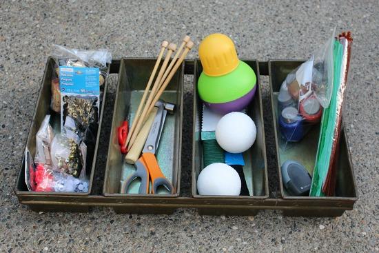 garage sale craft junk