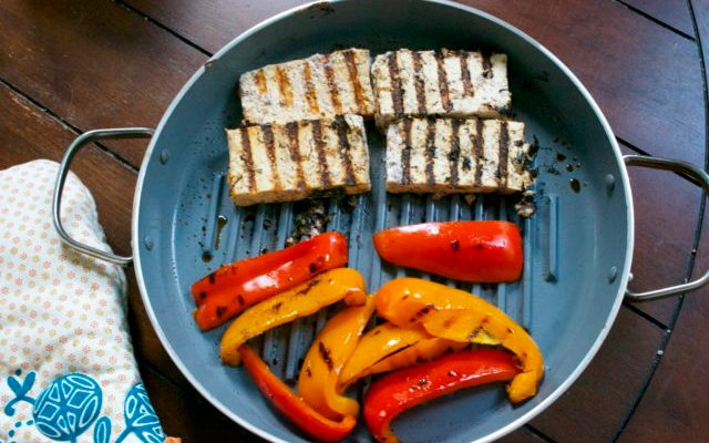 Sumac-spiced Grilled Tofu with Peppers