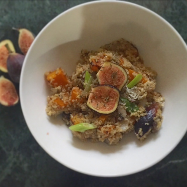 Figs and Butternut Squash Quinoa Salad