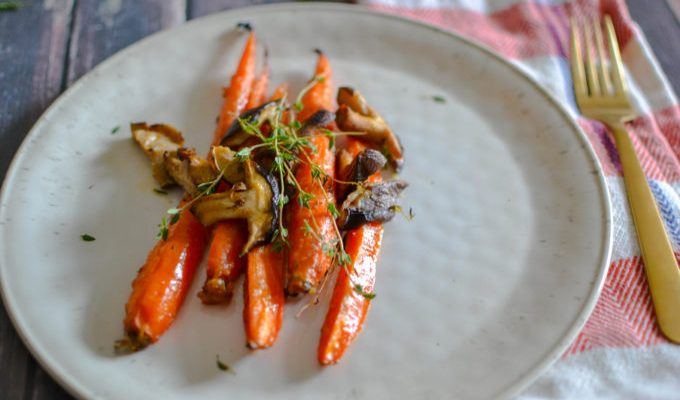 Roasted Carrots with Miso and Honey
