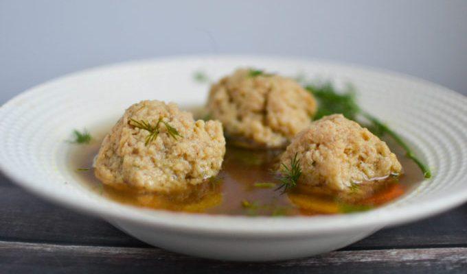Healthy Vegetarian Matzo Ball Soup