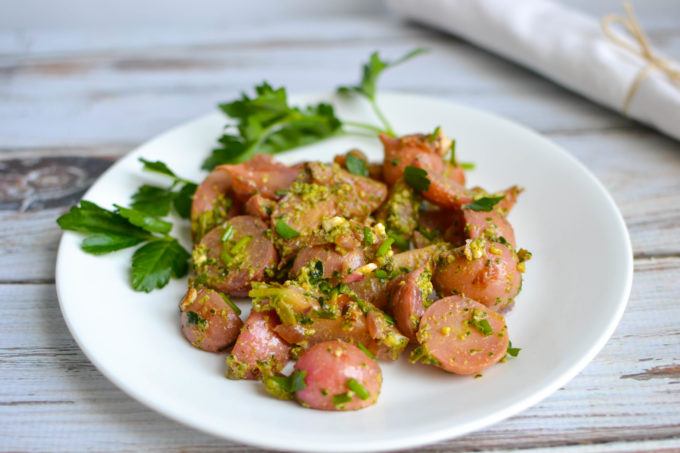Sauteed Radishes with Pesto and Chives