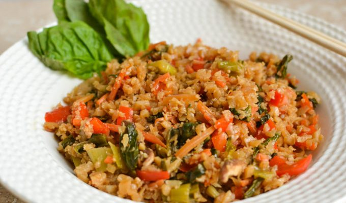 Healthy Basil Cauliflower Fried Rice