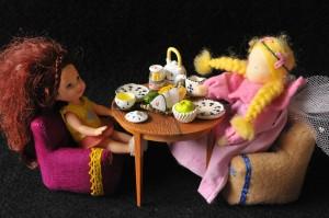Cadeiras de chá e braço
