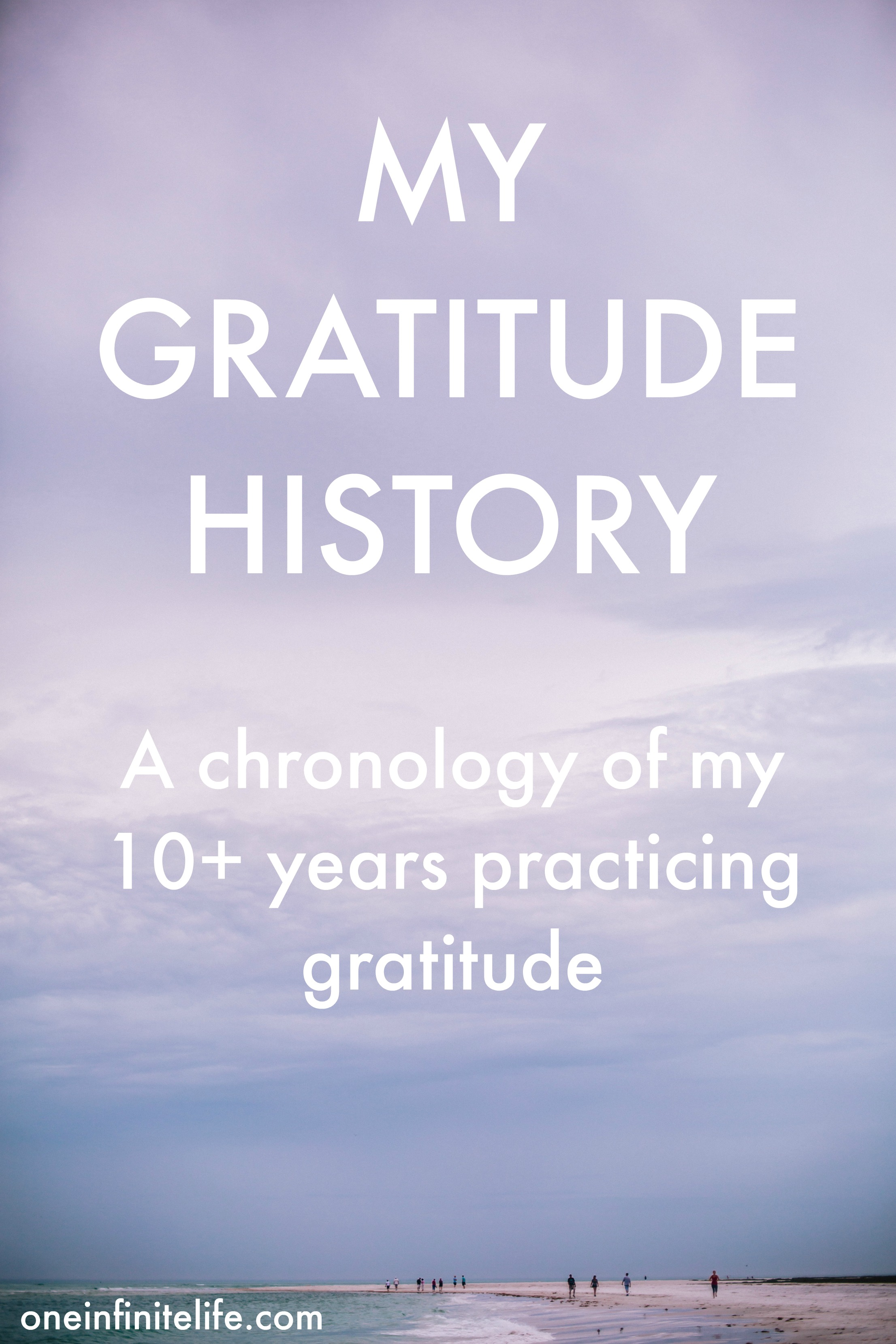 My Gratitude History A Chronology Of My 10 Years