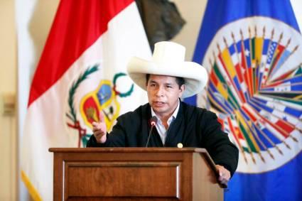 Pedro Castillo asegura que su Gobierno trabajará para acabar con las desigualdades sociales y la corrupción en discurso ante la OEA