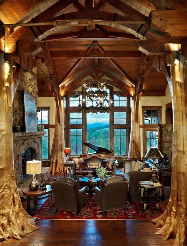 Extremely Cozy And Rustic Cabin Style Living Rooms   Living Room ...