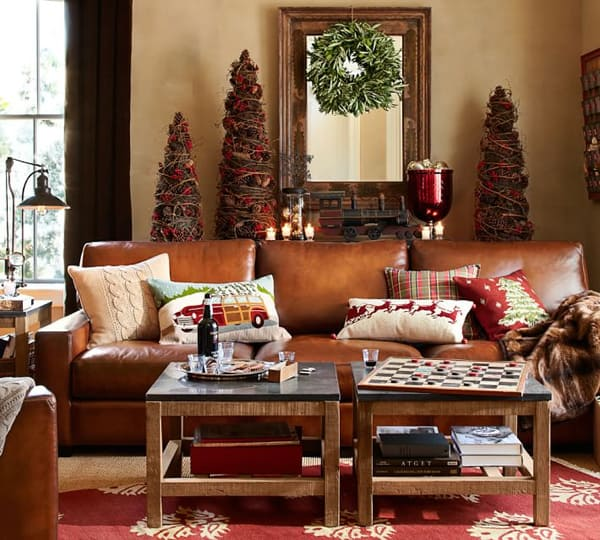 66 sensational rustic christmas decorating ideas. Black Bedroom Furniture Sets. Home Design Ideas