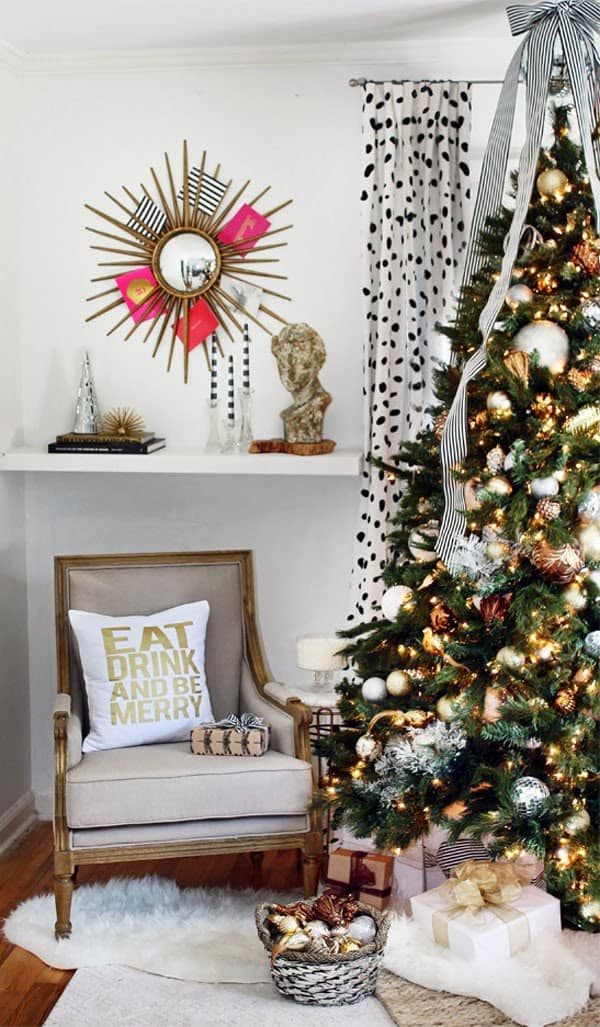 Christmas Decorated Living Rooms 80s: 53 Wonderfully Modern Christmas Decorated Living Rooms