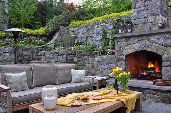 53 Most amazing outdoor fireplace designs ever on Amazing Outdoor Fireplaces id=71560