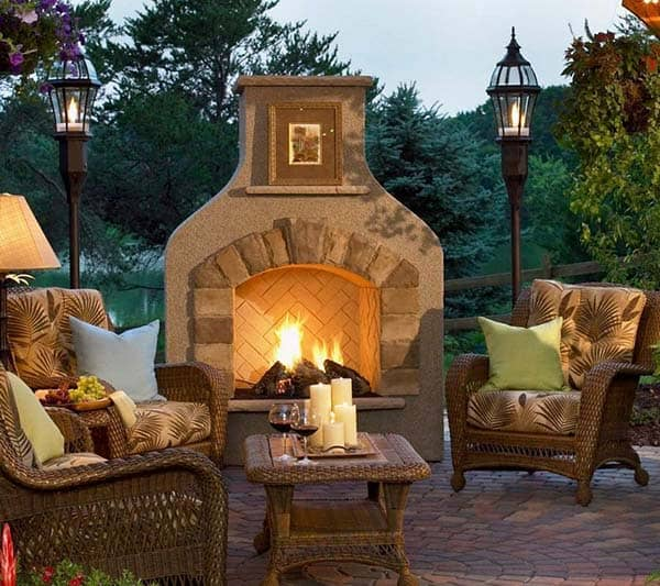 25 Amazing Deck Lights Ideas Hard And Simple Outdoor: 53 Most Amazing Outdoor Fireplace Designs Ever