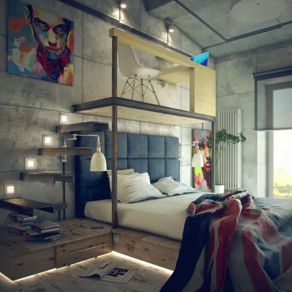 Industrial Bedroom Decor: 35 Edgy Industrial Style Bedrooms Creating A Statement