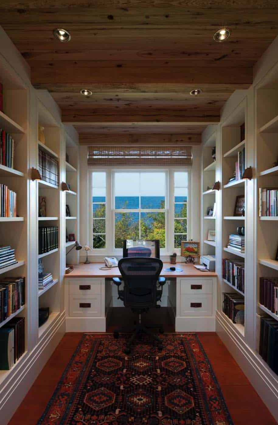 Home Library Loft: 28 Dreamy Home Offices With Libraries For Creative Inspiration