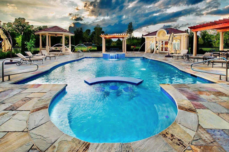33 mega impressive swim up pool bars built for entertaining - Invisible edge pool ...