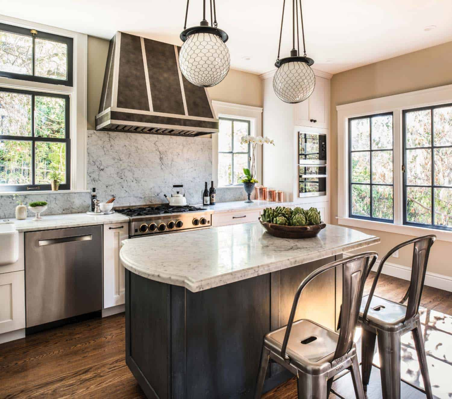 ... 25 Breathtaking Carrara Marble Kitchens For Your Inspiration On Subway  Tile Kitchen Island, Carrera Marble ...