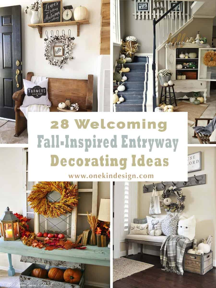 28 welcoming fall inspired entryway decorating ideas for Ranch home entryway design ideas
