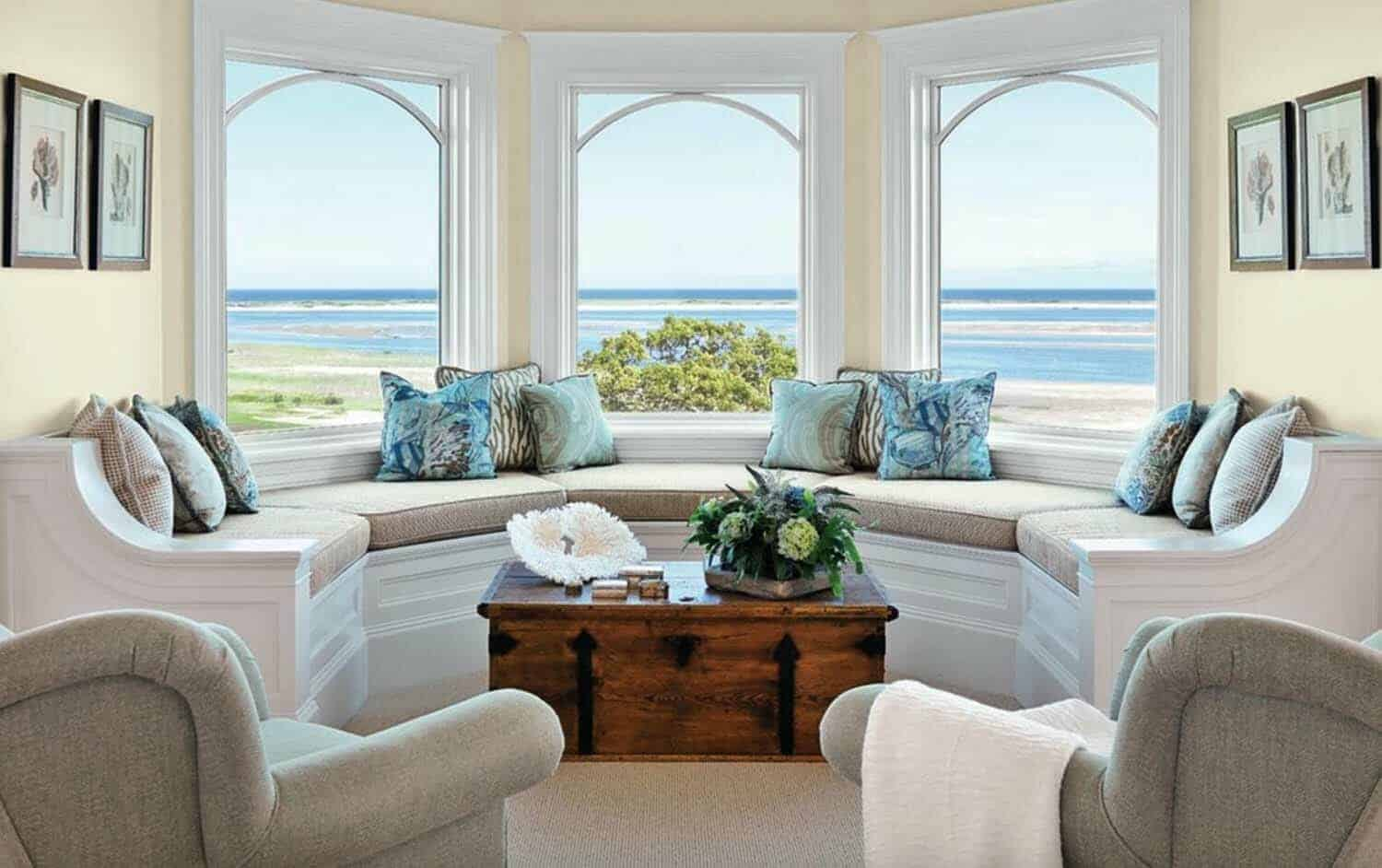 33 Amazing Built In Window Seats Capturing Mesmerizing Ocean Views