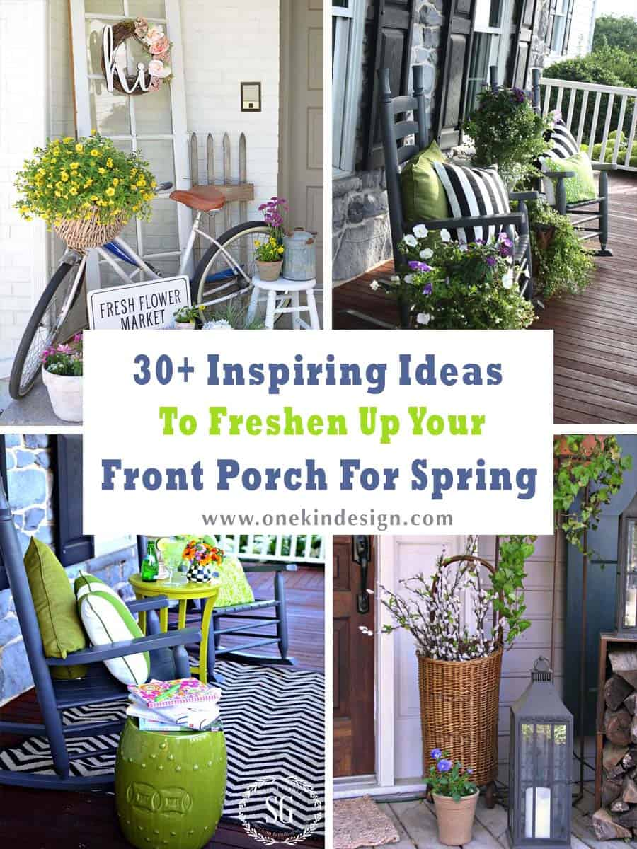 30 Inspirational Ideas For Living Rooms With Skylights: 30+ Inspiring Ideas To Freshen Up Your Front Porch For Spring