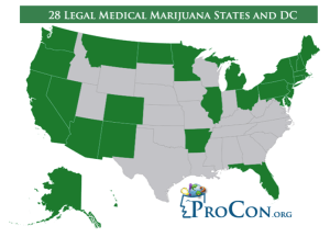 Multiple US States Allow Medical Marijuana