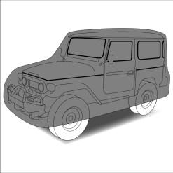 "Housse auto ""Design 4X4"""