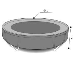 Housse sur mesure trampoline avec dimensions
