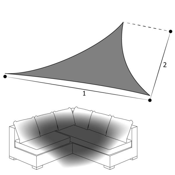 voile d'ombrage triangulaire sur mesure