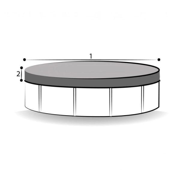 Bâche sur mesure piscine ronde