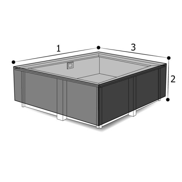housse sur mesure piscine rectangulaire