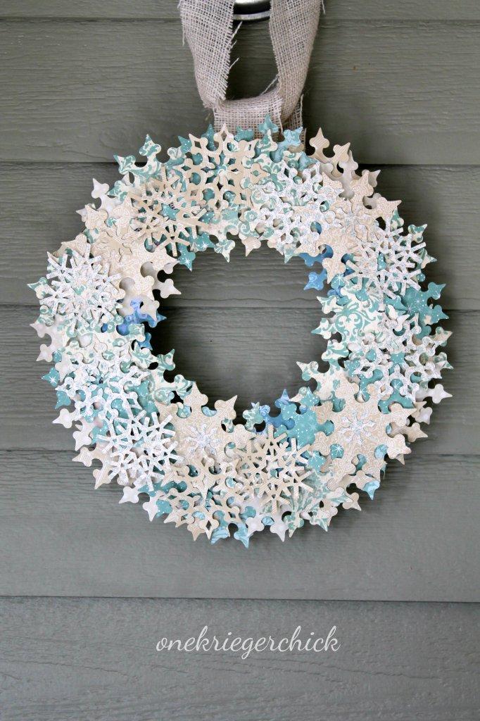 Diy Snowflake Wreath Onekriegerchick