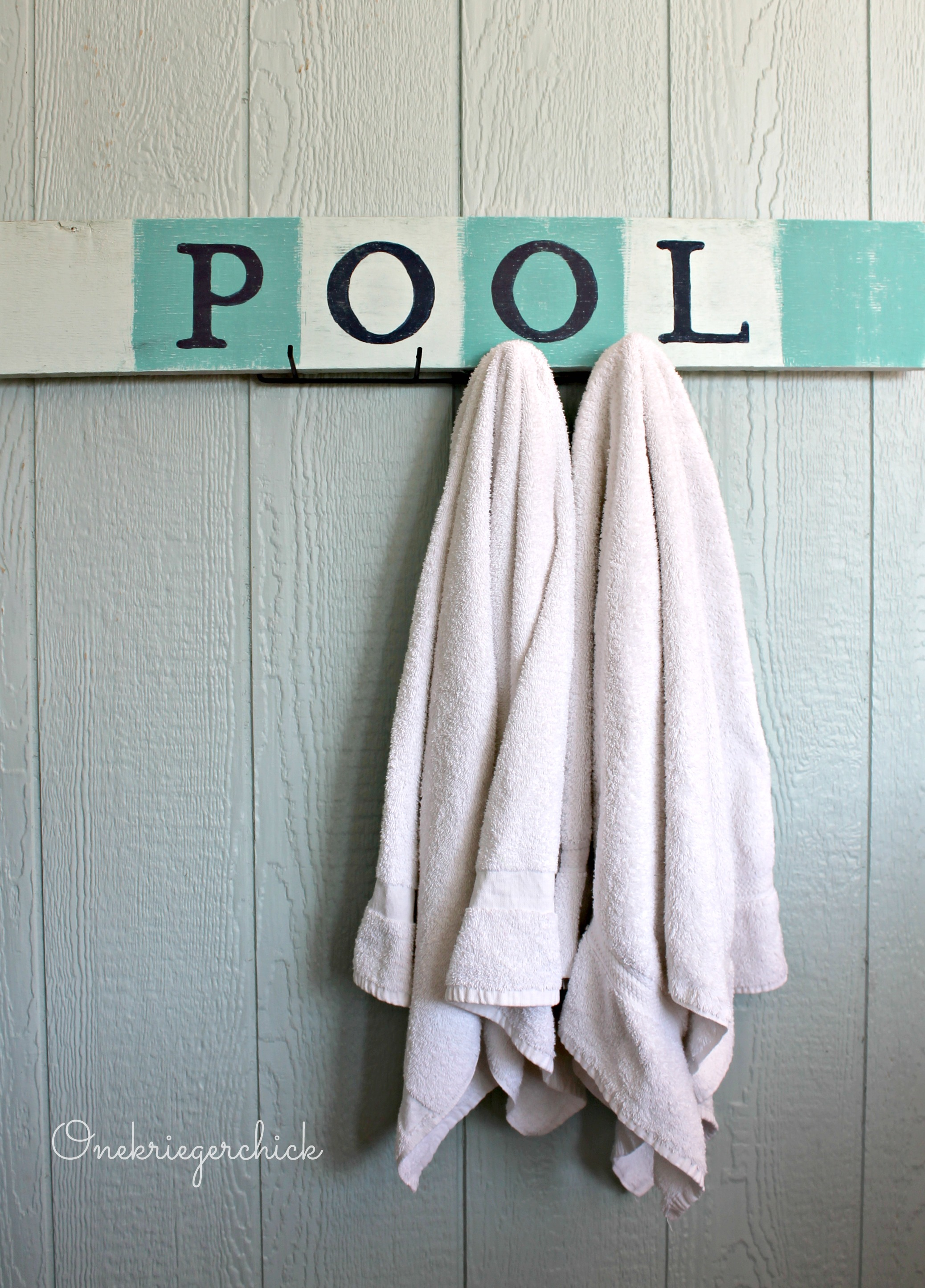 Pottery Barn Inspired Diy Pool Sign Onekriegerchick