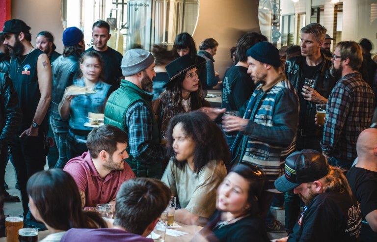 Montréal, lancement ONELAND Magazine esprits libres, motos et culture nomade - Crédit: JF Hébert