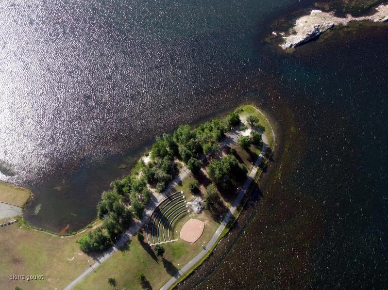 Site de la Presqu'île du lac Osisko pour le MoFFAT. Photo tirée de la page Facebook de la Prequ'île.
