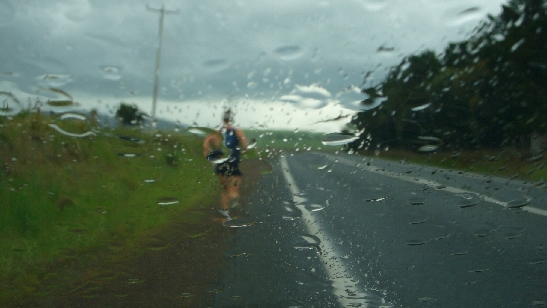 During my 5 day run in Tasmania I experienced both sunburn and driving rain.