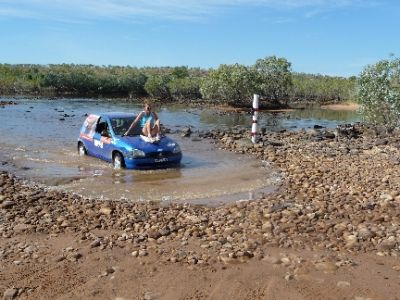 Not wanting to leave my 2 children as orphans; I made the obvious decision to get a ride across a croc-infested, bridgeless river in NT!